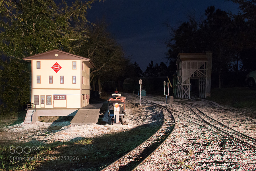 Night scene from the Ridge Live Steamers.