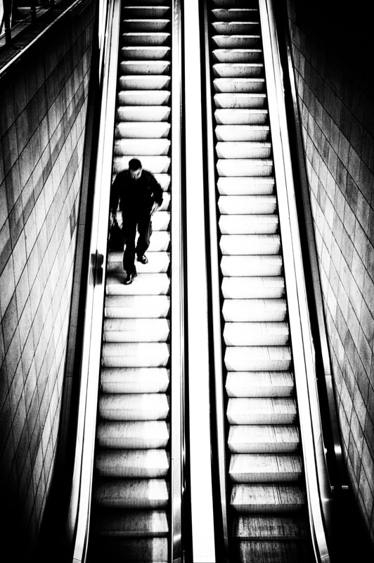 Photograph escalator by Vero Nick on 500px