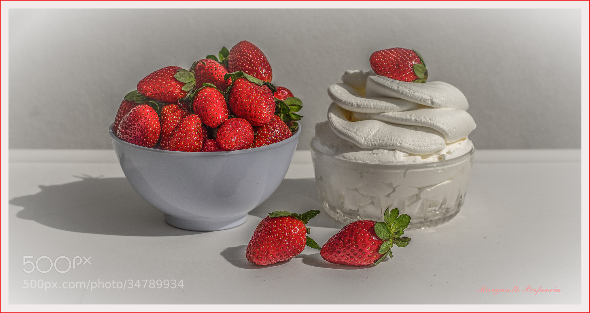 Photograph Strawberry with whipped cream! by Margareth Perfoncio on 500px