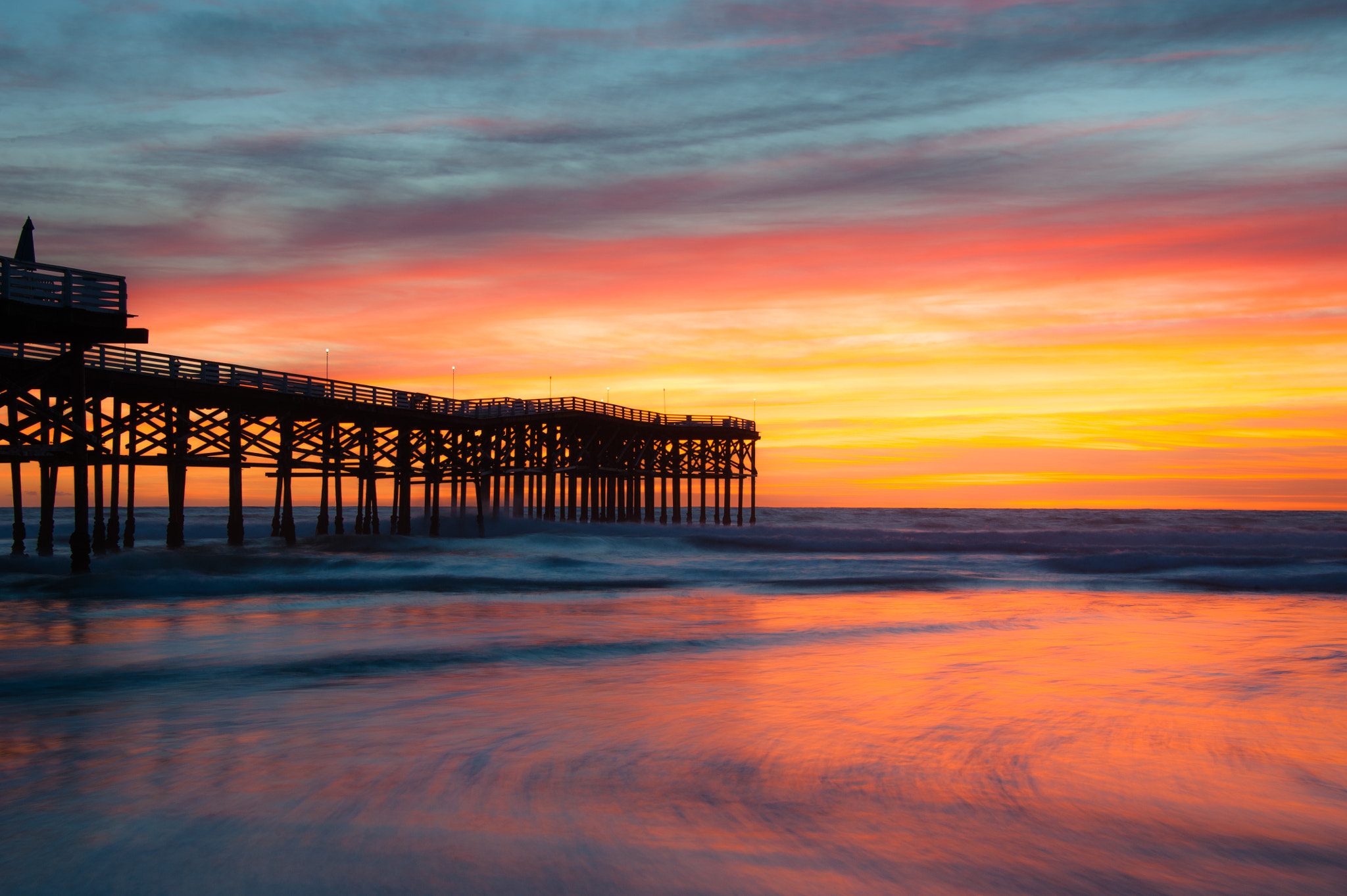 Photograph Crystal Pier at Sunset by David Bartz on 500px