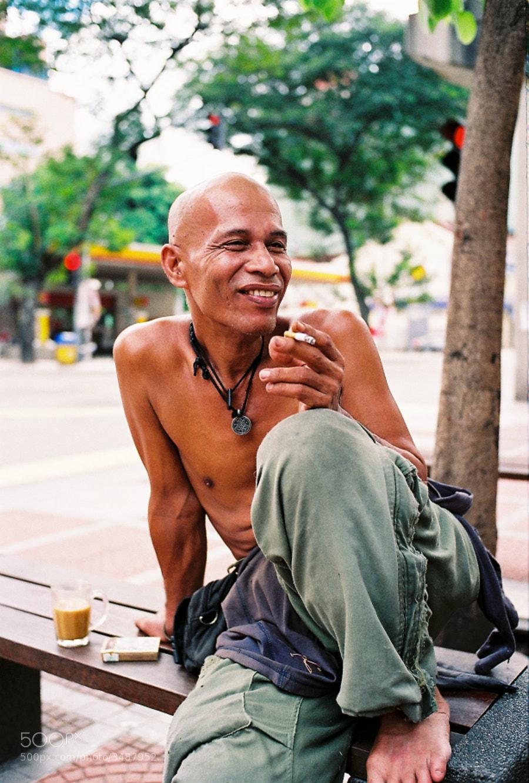 I always love to shoot him when I have photowalk at Chow Kit area, Kuala Lumpur, Malaysia.