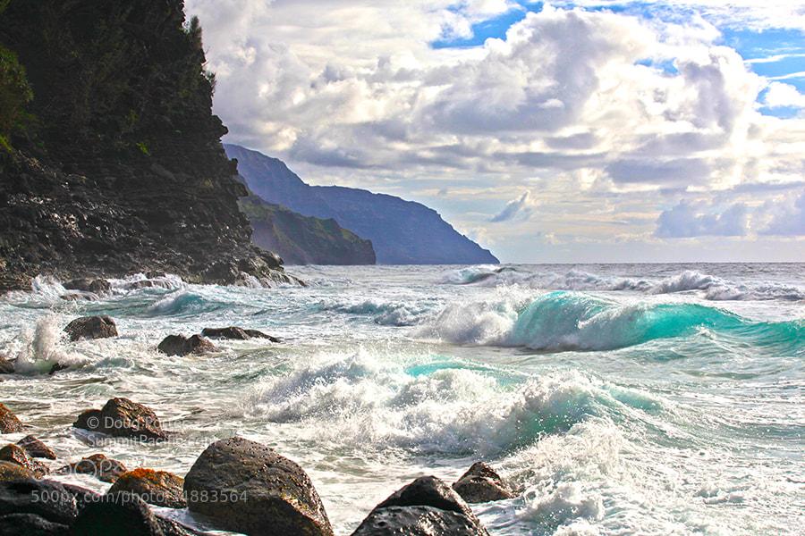 Photograph Ocean Waves on Na Pali Coast, Kauai by Doug Porter on 500px