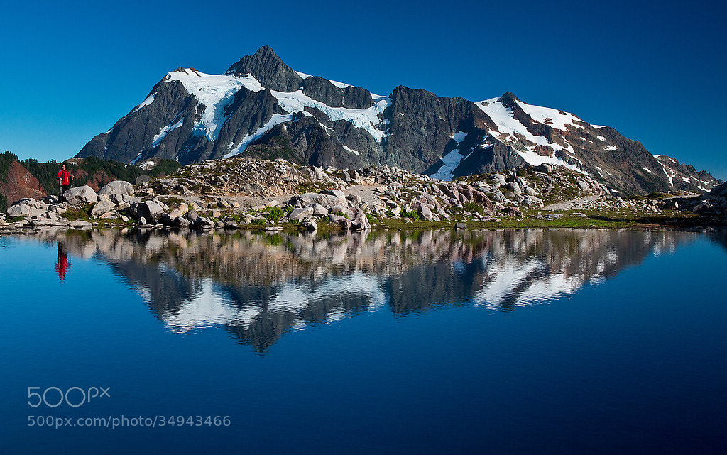 Photograph Mount Shuksan - Man and the Mountain by Samujjwal Roy on 500px