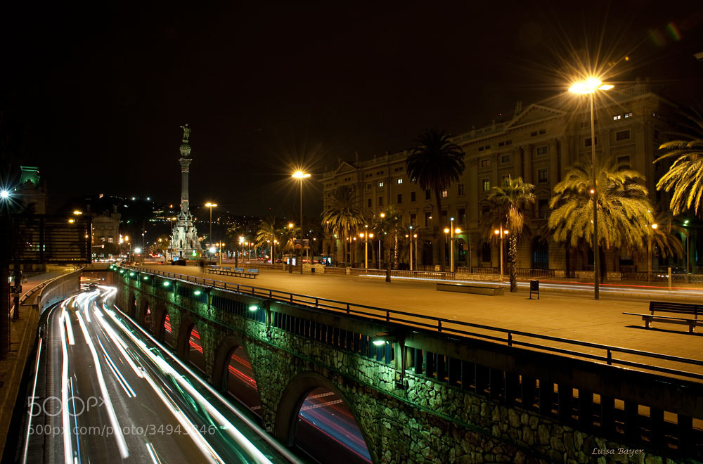 Photograph Barcelona de noche by luisa Bayer on 500px