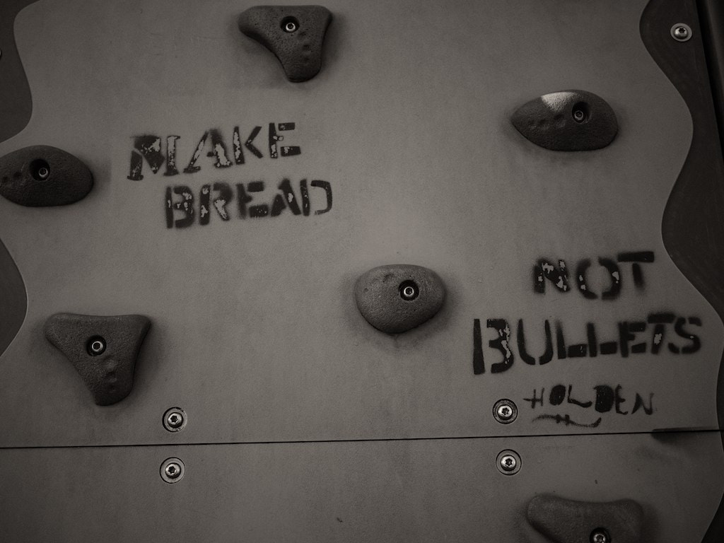 Photograph make bread, not bullets by shaan ware on 500px