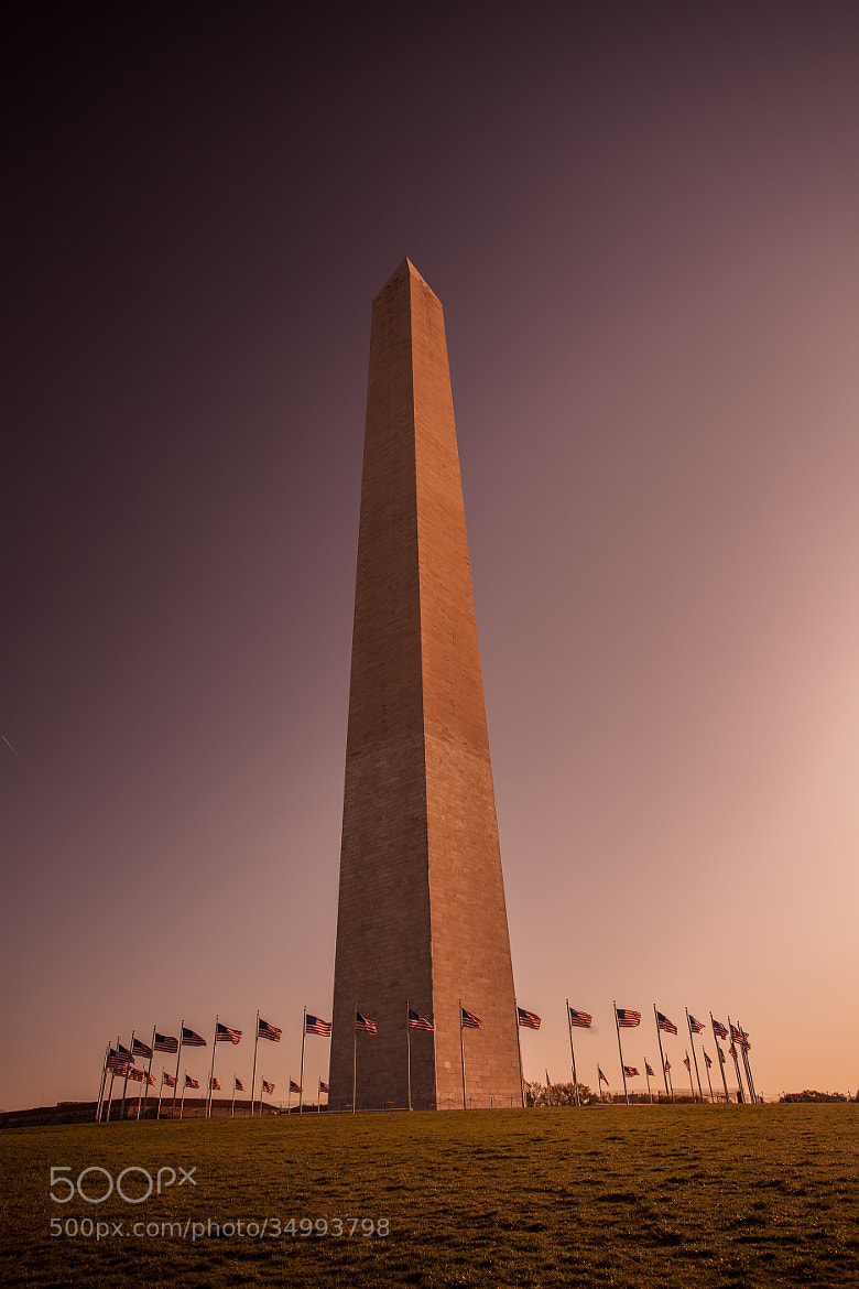 Photograph Flags at Sunset by Tabitha Hawk on 500px
