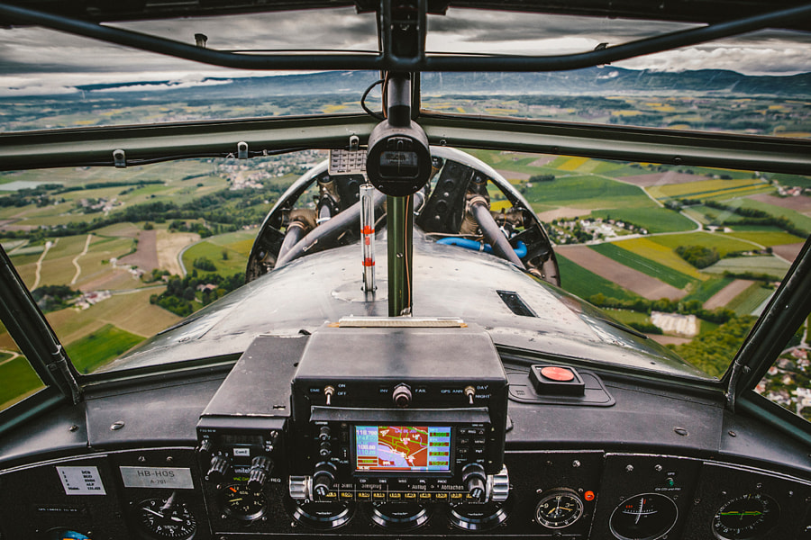 From the cockpit of a Ju-52 by Alex Teuscher on 500px.com