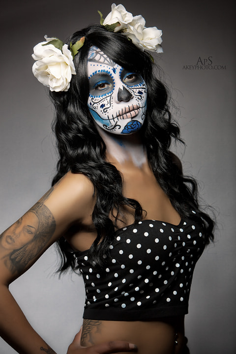 Photograph Sugar Skull Dee by Ray Akey on 500px