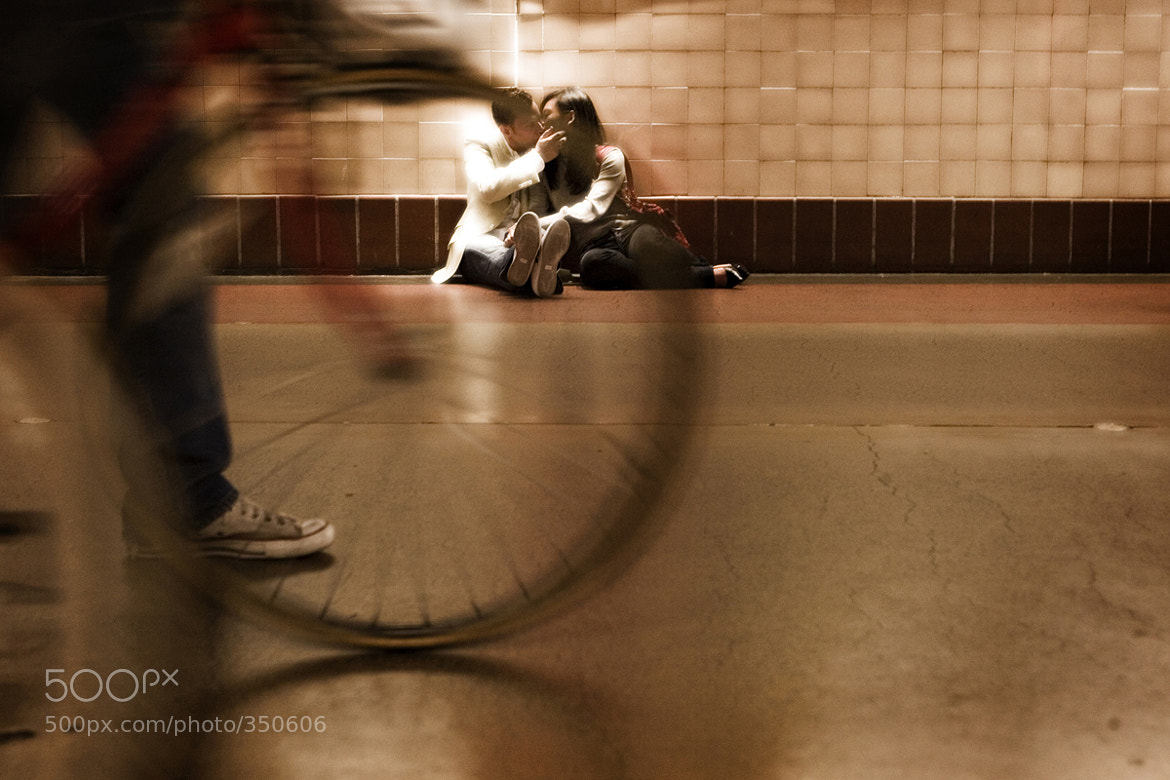 Photograph Train Station Kiss by Robert Evans on 500px