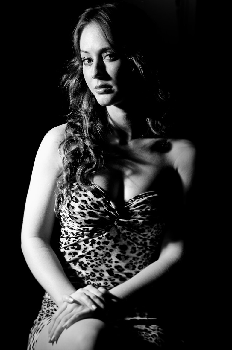Photograph Woman in Leopard Dress by Tony  Law on 500px