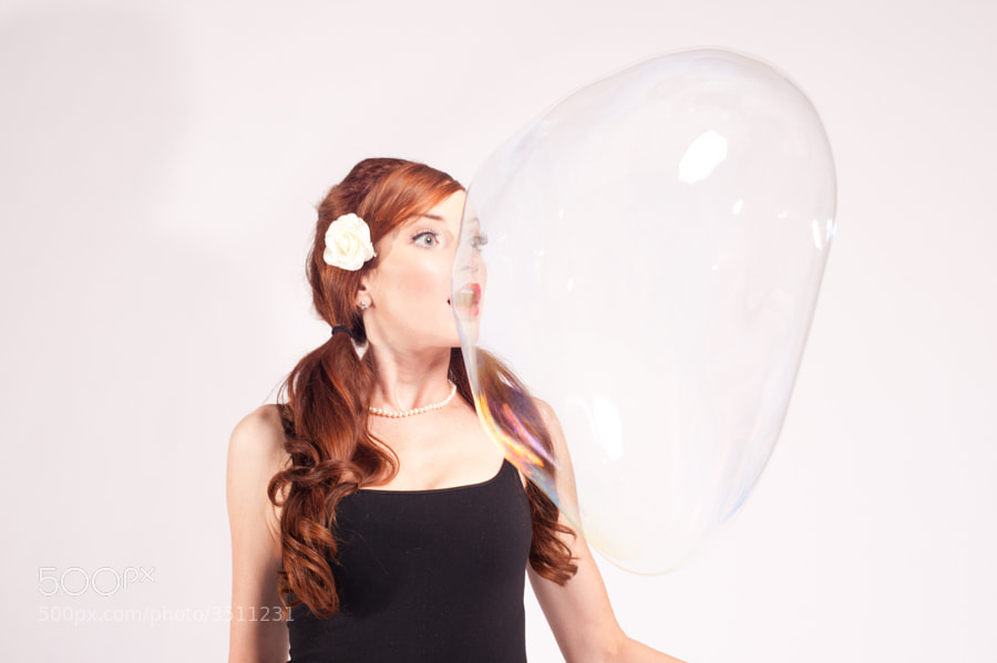 Conceptual shoot to capture the interaction with large bubbles. Because bubbles are FUN!