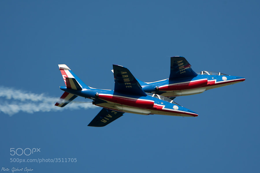 Photograph Patrouille de France by Gijsbert Copier on 500px
