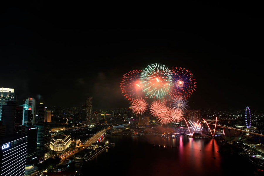 National Day Parade 2011 Fireworks!