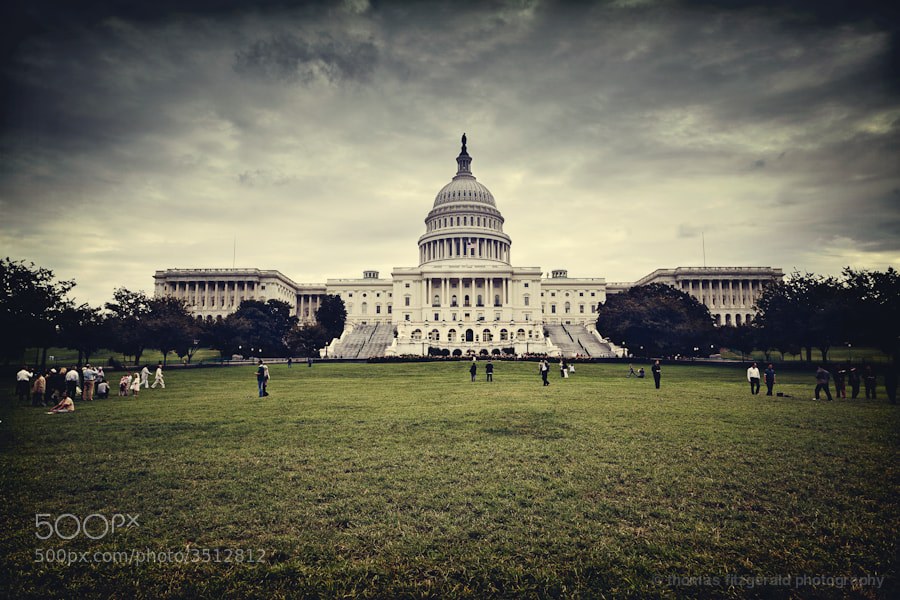 Storm Clouds build over the US capitol building, Washington DC