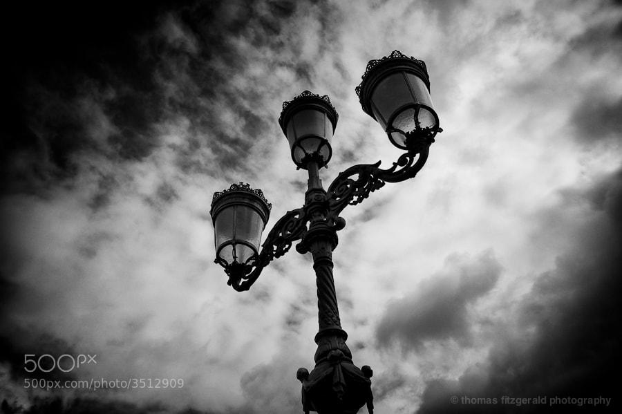 An iconic Dublin street lamp