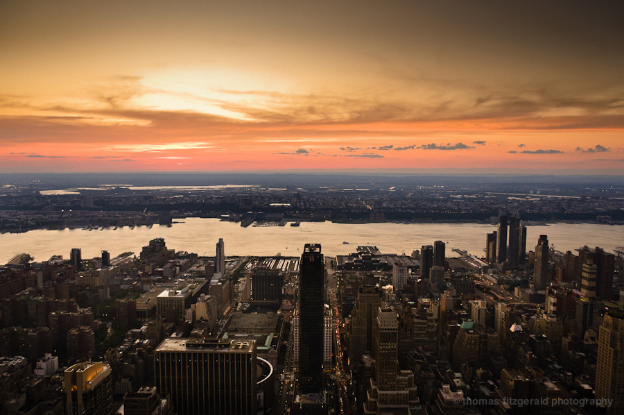 Photograph Sunset over NY by Thomas Fitzgerald on 500px
