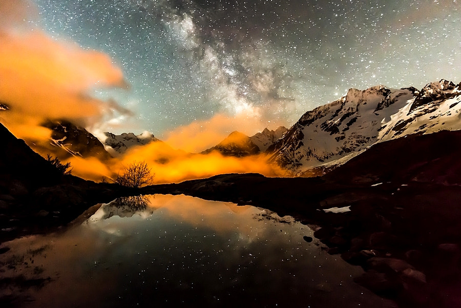 Photograph Orange fog and milky way by Joris Kiredjian on 500px