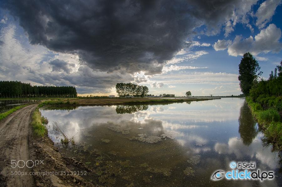Photograph Aspettando il temporale... (Dorno, Lomellina, Provincia di Pavia) by Francesco Sisti on 500px