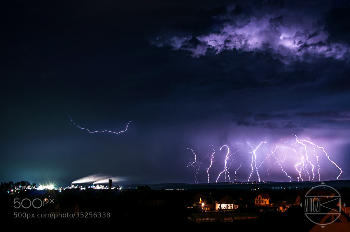 Photograph Factory and Lightnings by George Ciobanu on 500px