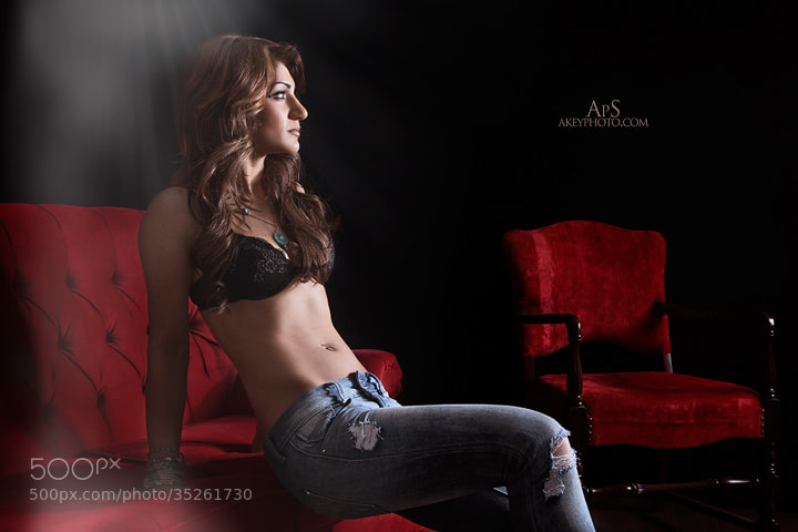 Photograph Red in Blue Jeans by Ray Akey on 500px