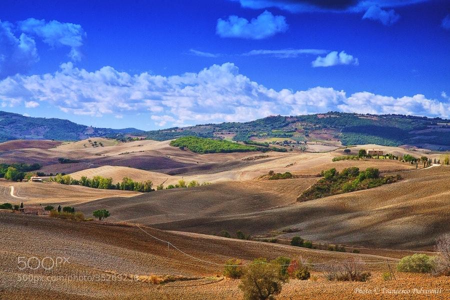 Photograph Colline Toscane -Pienza by Francesco Pulvirenti on 500px