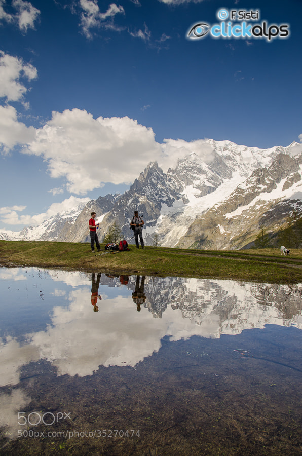 Photograph Riflessioni sul Monte Bianco... (Val Ferret, Valle d'Aosta) by Francesco Sisti on 500px