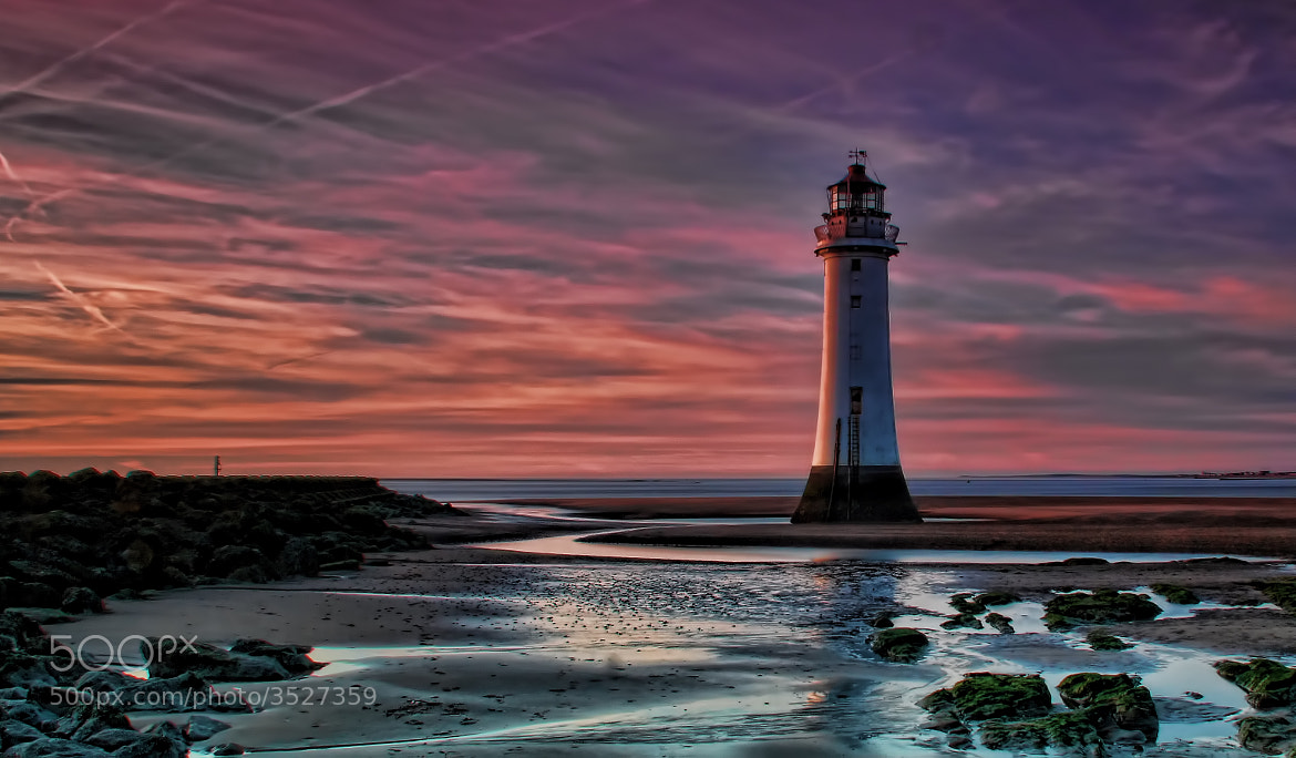 Photograph perch rock sunset by paul hitchmough on 500px