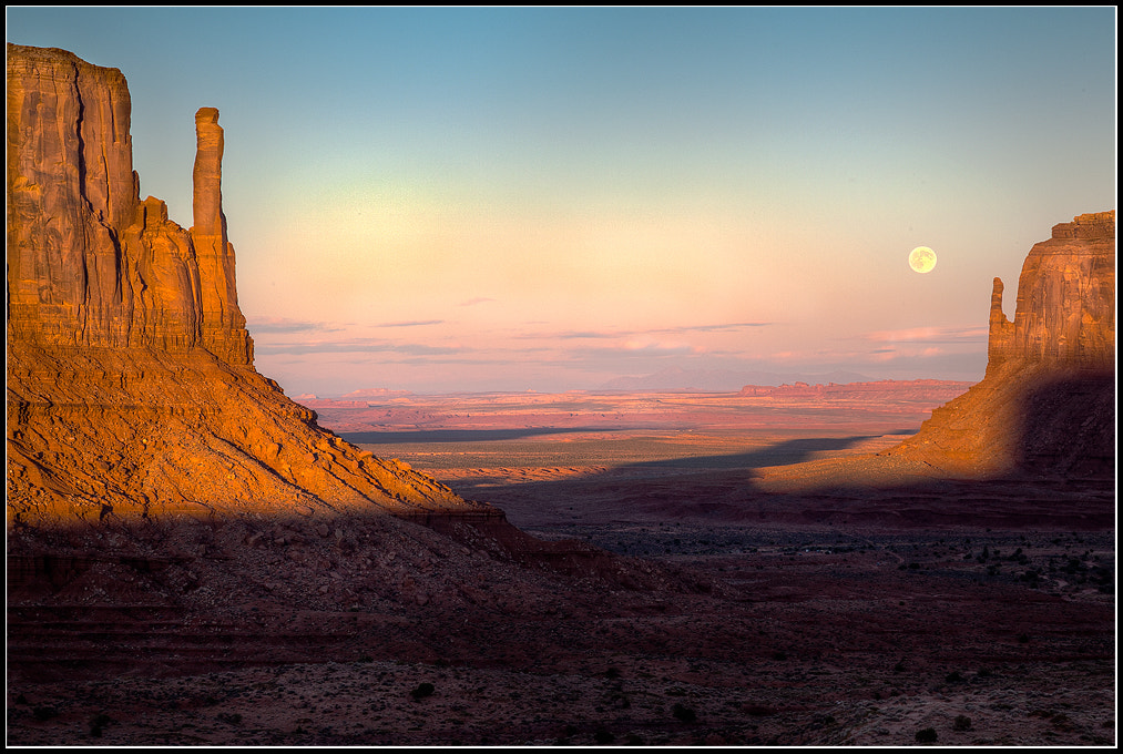 Photograph Moonrise Sunset Over The Mittens by Leo Burkey on 500px