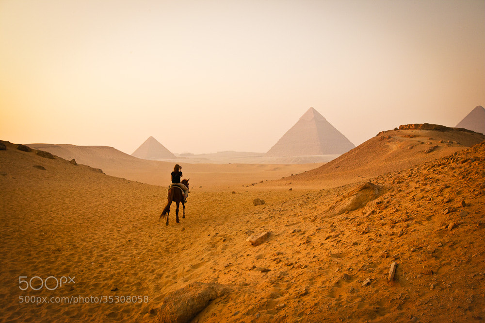 Photograph Approaching the Pyramids by Edward Ewert on 500px