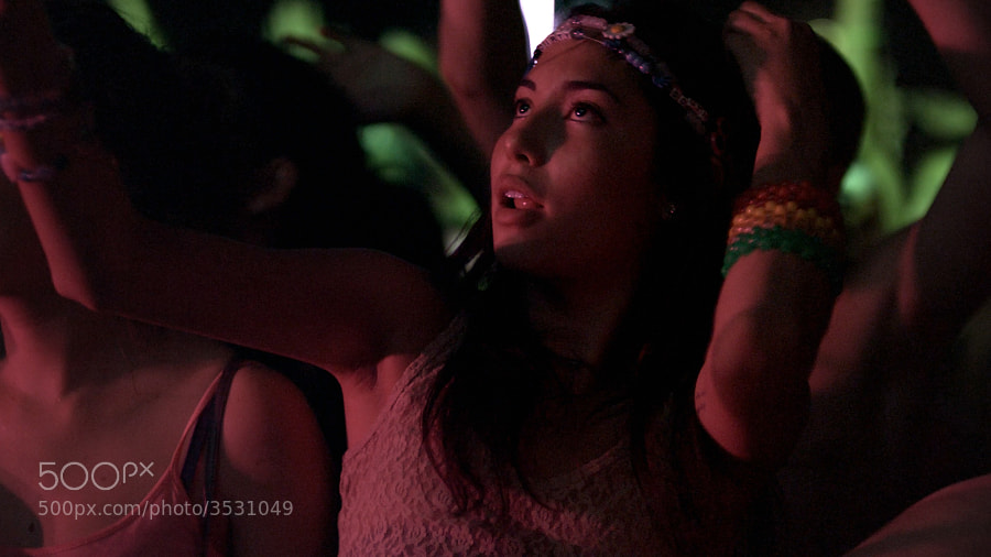 Shot on a Red Epic M camera at 120 frames per second with Arri Master Prime 50mm lens at Electric Daisy Carnival Las Vegas 2011.