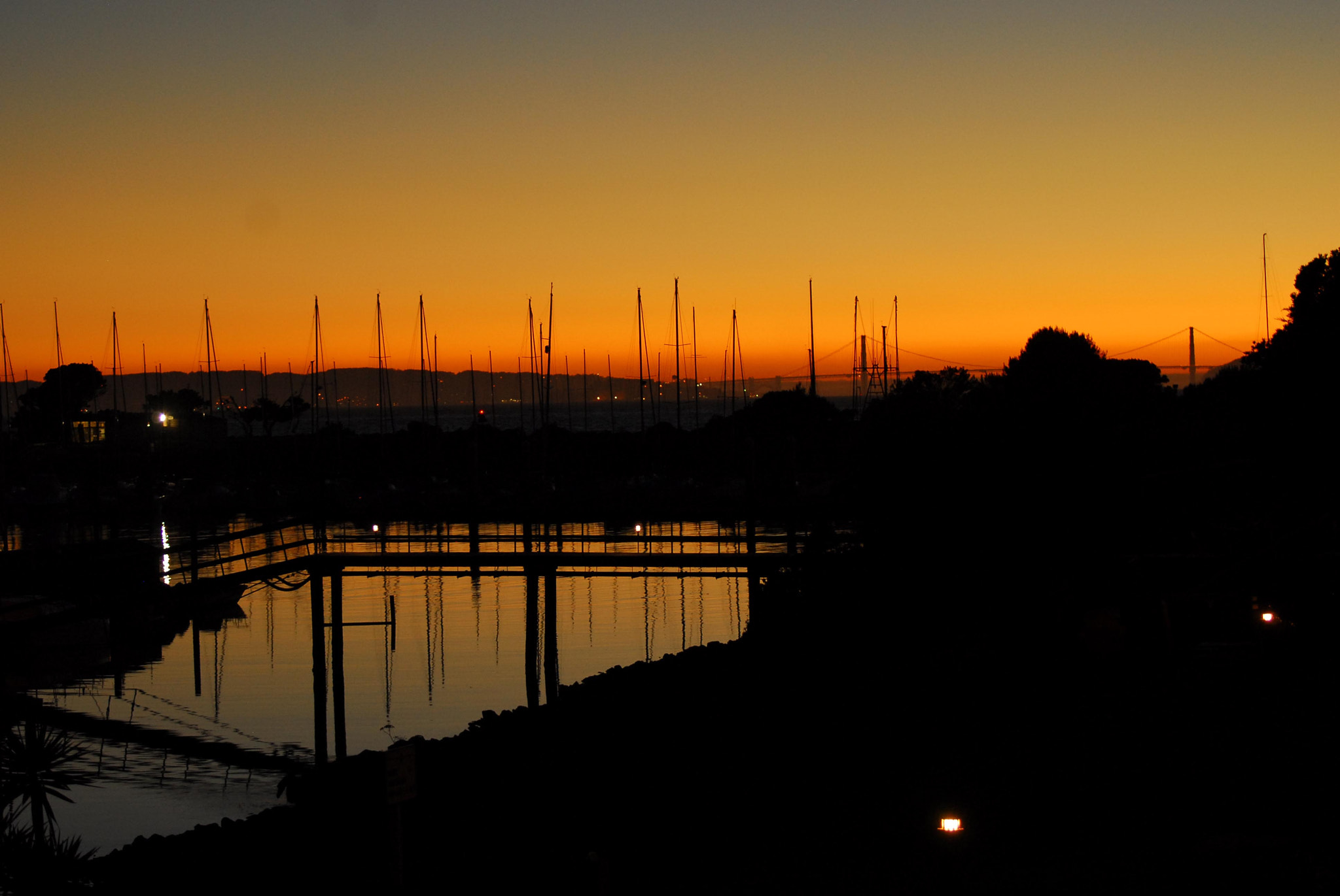 Photograph Berkeley Marina at Sunset - Golden Gate Bridge in background by Guy Prince on 500px