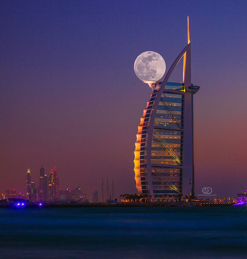 Photograph Burj Al moon by MO AOUN PHOTO on 500px