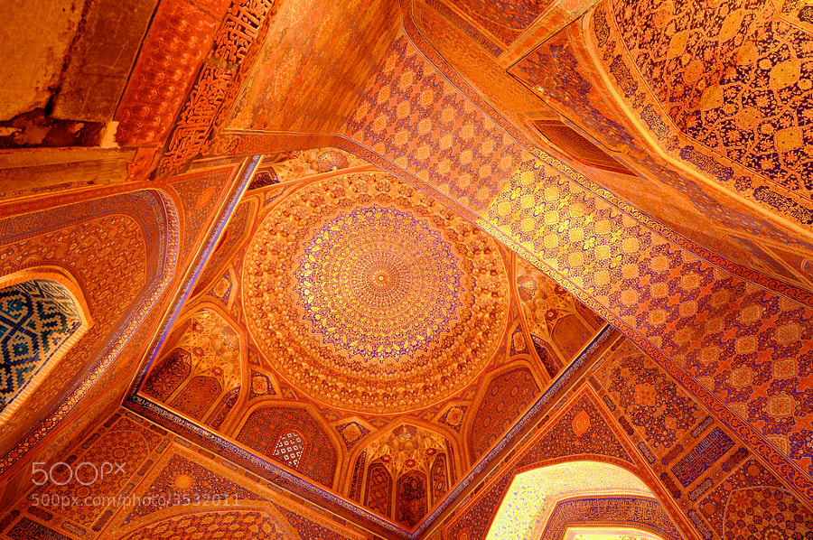 Photograph Uzbekistan, Samarkand, Tilla-Kari (Gold Covered) Madressa by Martin Yhlen on 500px