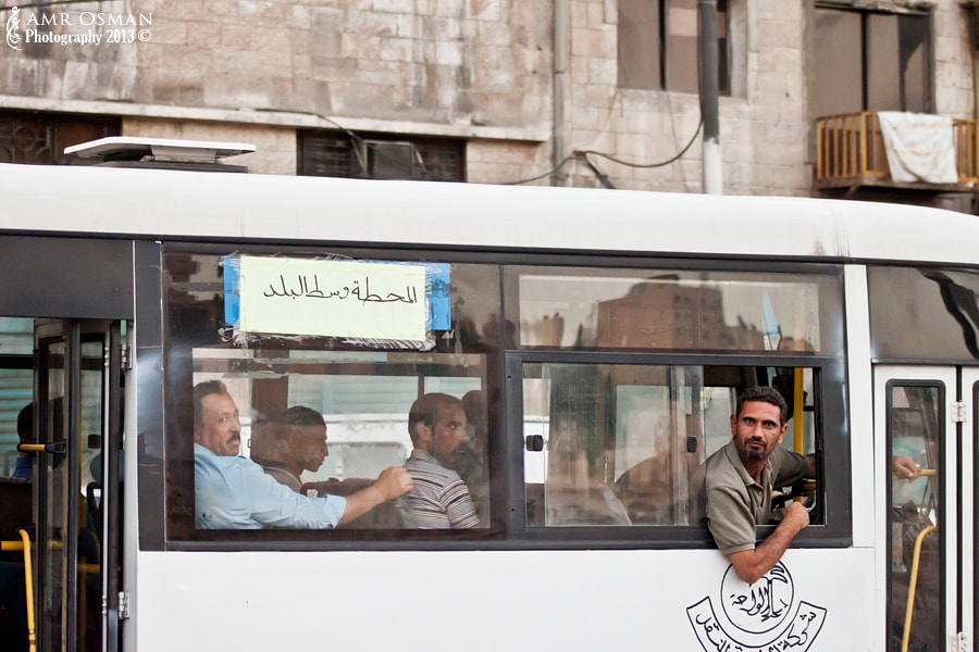 Photograph The Downtown Bus Gazer by Amr Osman on 500px