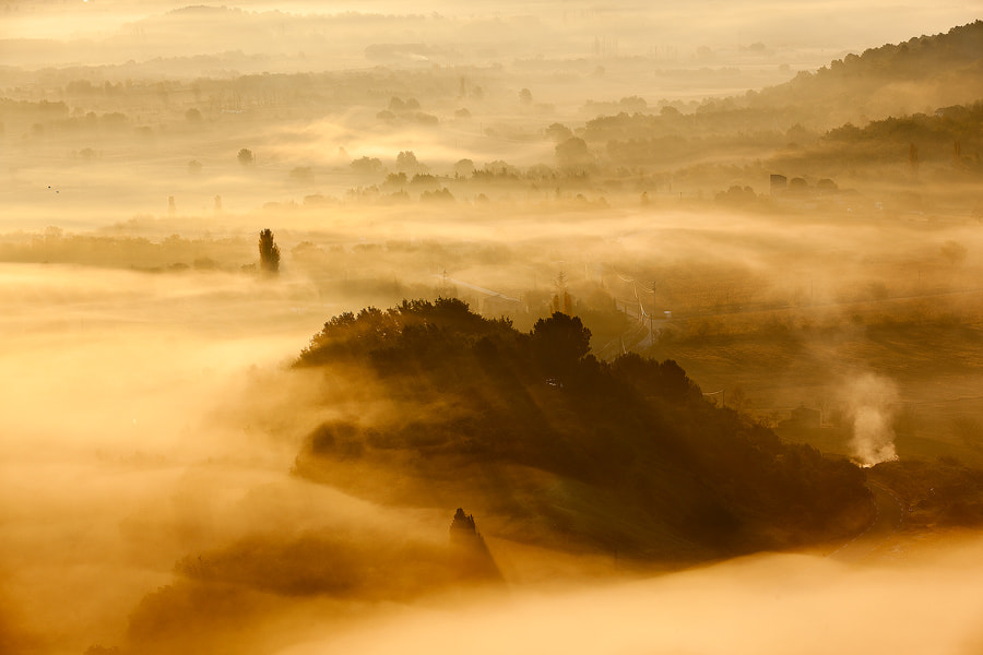 Photograph Gordes Mist by Francesco  Bogetti on 500px