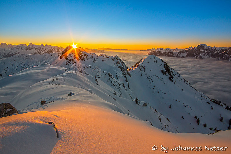 Photograph Winter Sundown by Johannes Netzer on 500px