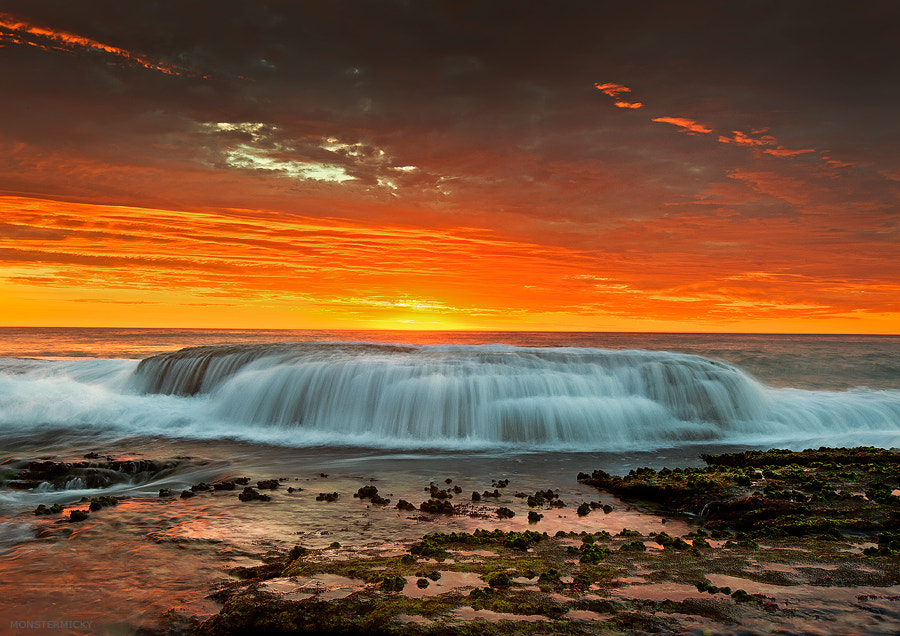 Photograph Waterfall by the sea by MONSTERMICKY ! on 500px
