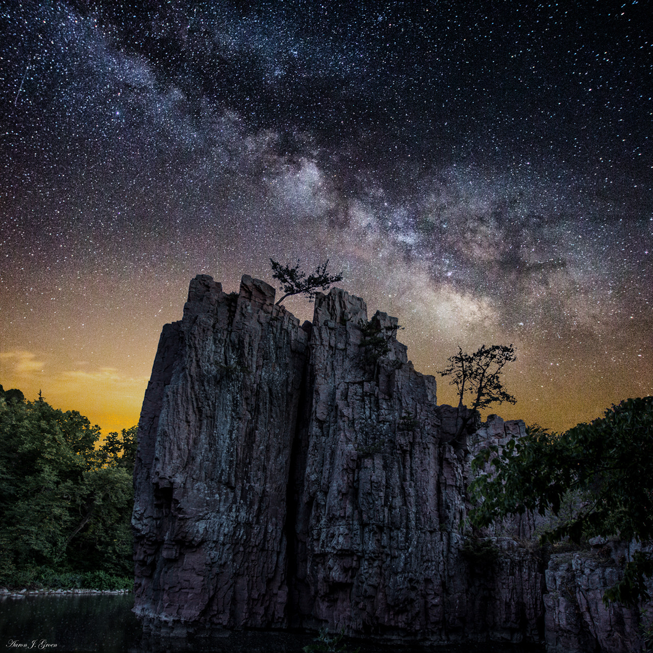 Photograph King and Queen Rock Milky Way by Aaron J. Groen on 500px