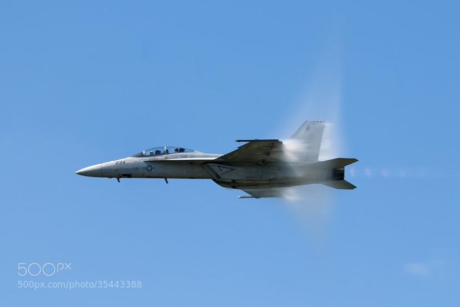 Photograph F-18 in high speed pass by Darek Siusta on 500px