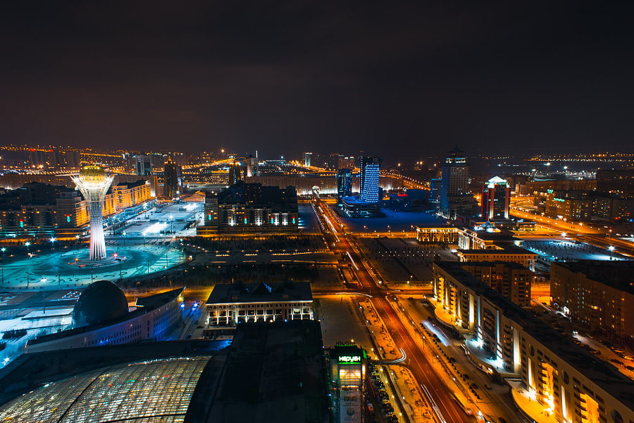 Astana from the rooftop