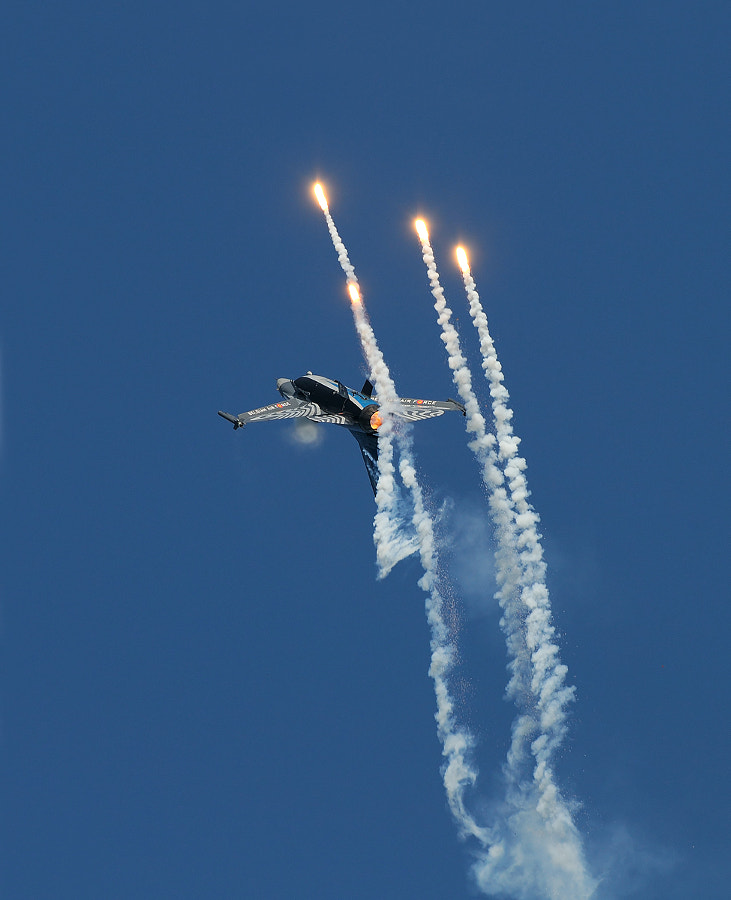 """Belgian F16 solo display, with Cdt. Michel """"Mitch"""" Beulen behind the stick, during a Military Air Show at Leeuwarden Air Force Base in September 2011.  Best wishes and have a nice Sunday,  Harry"""