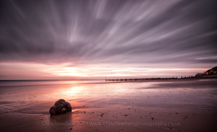 Photograph Cloudy Sunrise, Overstrand Beach by Chris Newham on 500px
