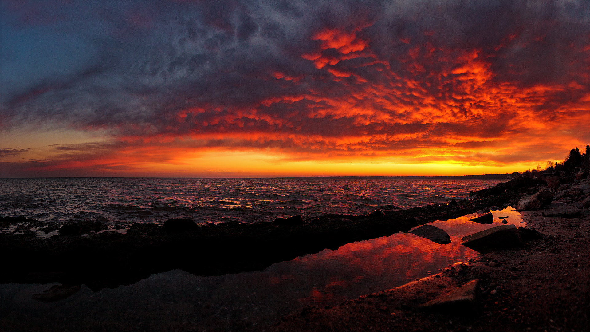 Photograph December sunrise over lake Ontario by Josh Owens on 500px
