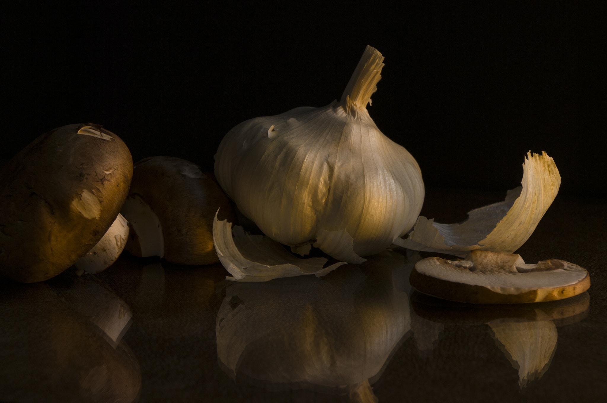 Photograph Mushrooms and Garlic by Mia Lisa Anderson on 500px