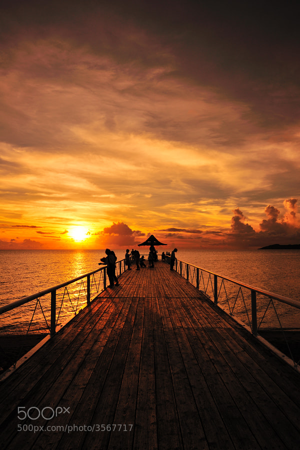 sunset pier by Junya Hasegawa (JIN-X3)) on 500px.com