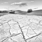 Mesquite Dunes in Death Valley. Large area of graphic mud flaps. Converted using Silver Efex Pro 2.