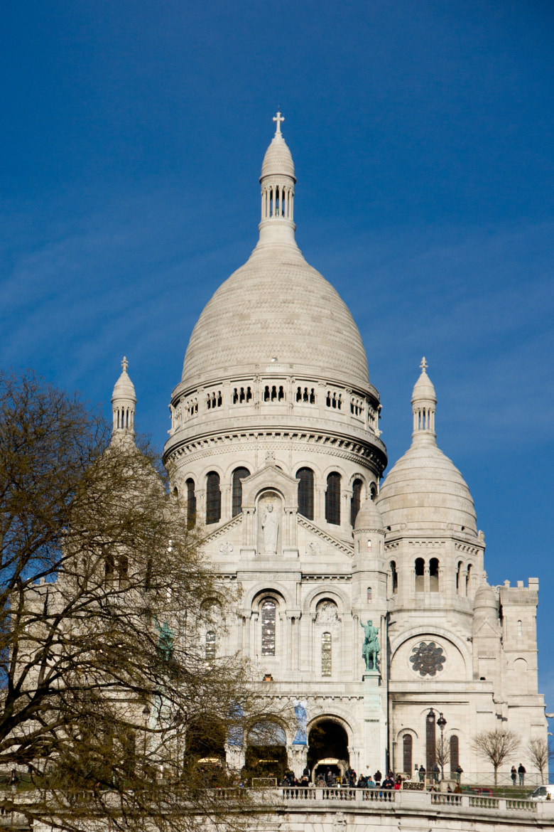 Photograph Sacre Coeur against the blue sky by nickodim on 500px