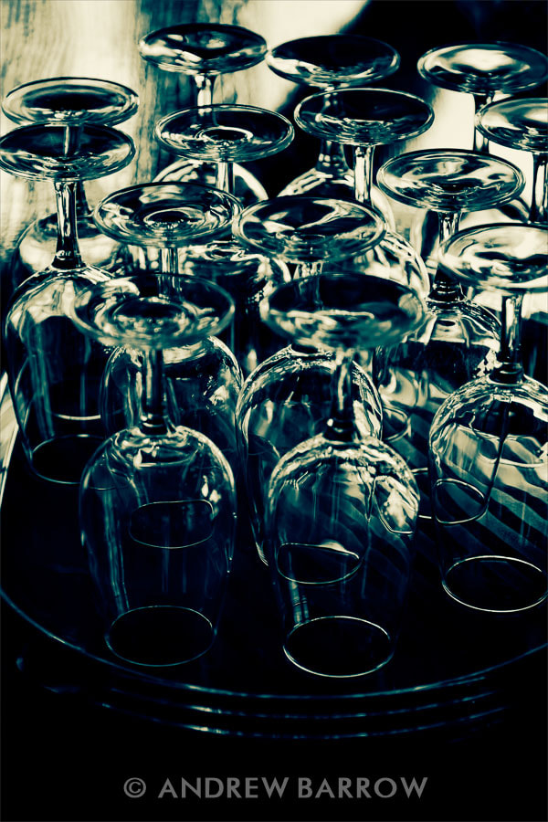 Photograph Tray of Wine Glasses by Andrew Barrow LRPS on 500px