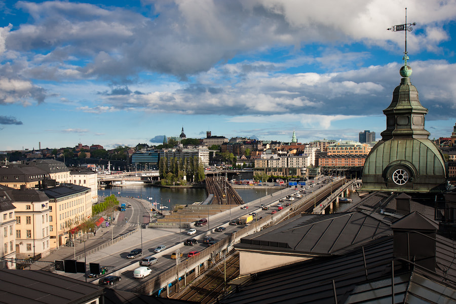 Photograph Stockholm rooftop view by Alexander Dragunov on 500px