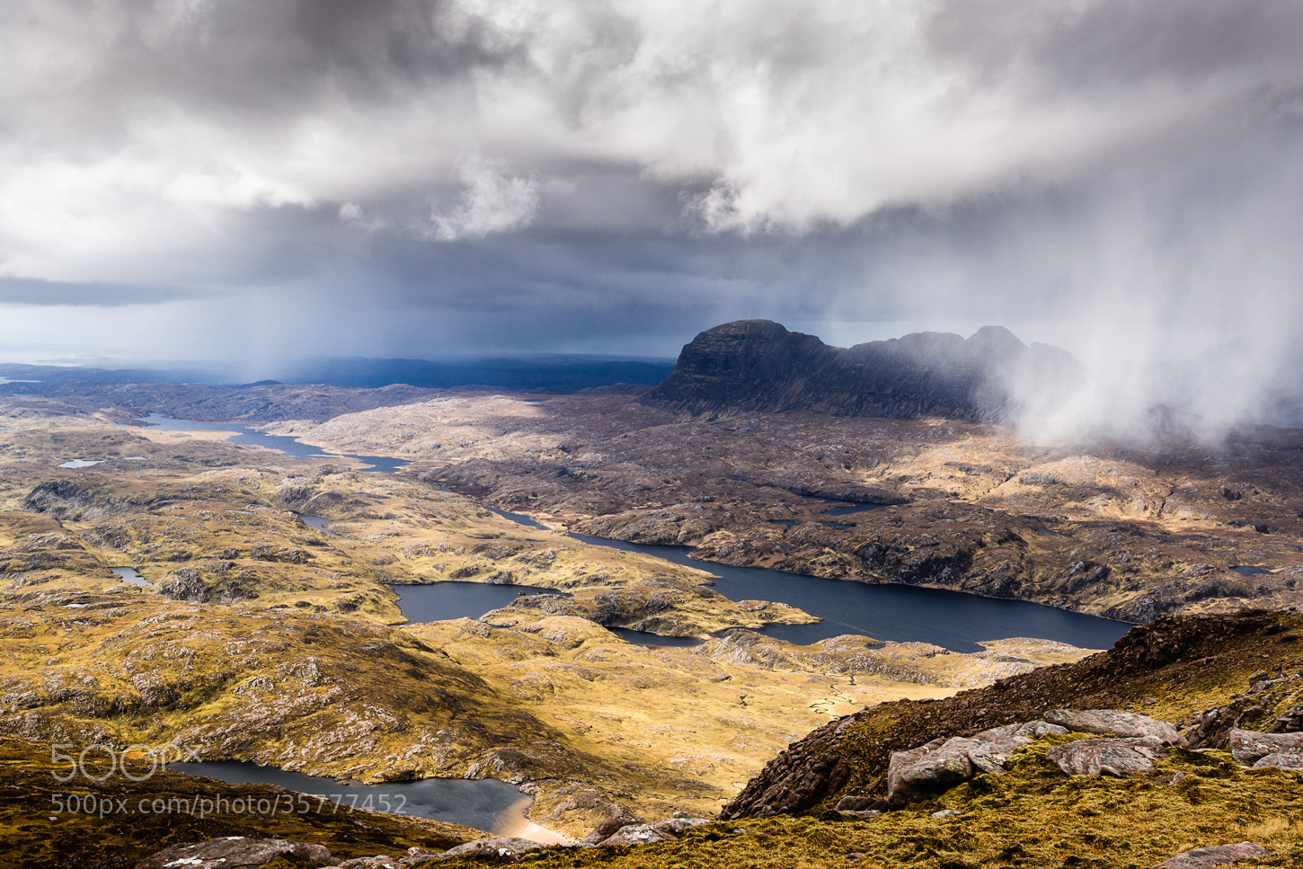 Photograph Suilven under the snowfall  by Maciej Markiewicz on 500px